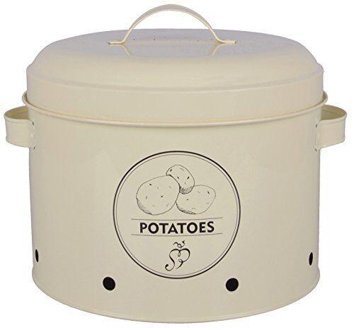 27,0 x 23,2 x 21,3 cm Esschert Design Vorratsdose Kartoffeln aus Metall