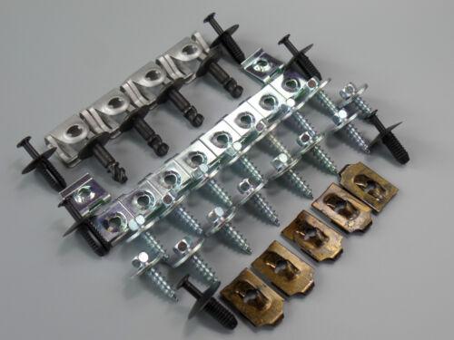 BMW 3 Series E46 Underrun Protection Motor Underbody Installation Kit Clips Set