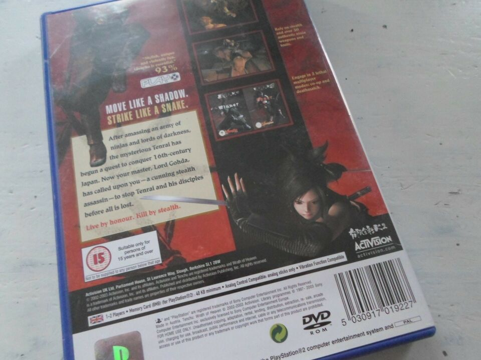 TENCHU WRATH OF HEAVEN, PS2