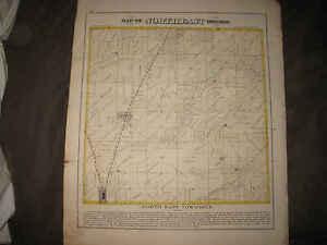 ANTIQUE 1872 NORTHEAST TOWNSHIP LA PRAIRIE ADAMS COUNTY ILLINOIS MAP KEOKUK NR