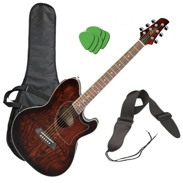 Ibanez Talman Cutaway Acoustic Electric Guitar Vintage Brown
