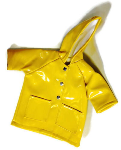 /& Umbrella made for 18 inch American Girl Doll Clothes Boots Yellow Rain Coat