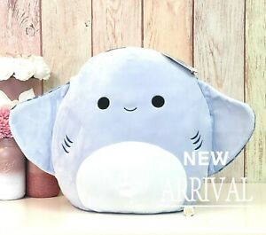 """*SALE* Squishmallow 16"""" Inch Large King the Blue Stingray Sea Life Squad NEW"""