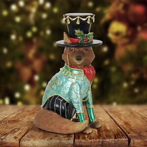 Exhart Christmas Fox in Top Hat