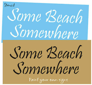 Image Is Loading Stencil Some Beach Somewhere Tiki Bar Tropical Lake