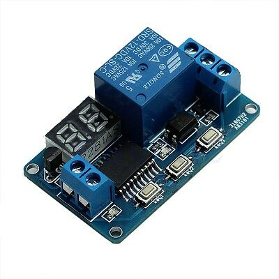 12V Digital LED Home Control Switch Automation Delay Timer Relay Module  Display