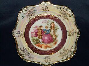 vintage daniels fine gifts porcelain nut mint bowl w couple scene