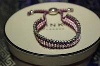 Genuine Links Of London Silver 35 Bar Purple And Pink Friendship Bracelet - Bnib