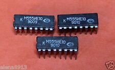 KM555IE10 = SN74LS161 IC / Microchip USSR  Lot of 25 pcs