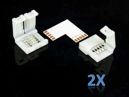 90° L Verbinder Eckverbinder für 12mm RGBW Leiste LED SMD Strip Eck Winkel Klick