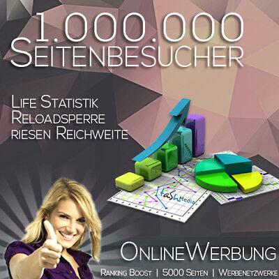Reloadsperre Statistik 500.000 Besucher für Ihre Homepage Werbung Traffic