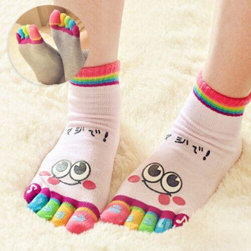 Hot Children Cute Toe Sock Boy Girl Emoji Five Fingers Sock Candy Color Stocking