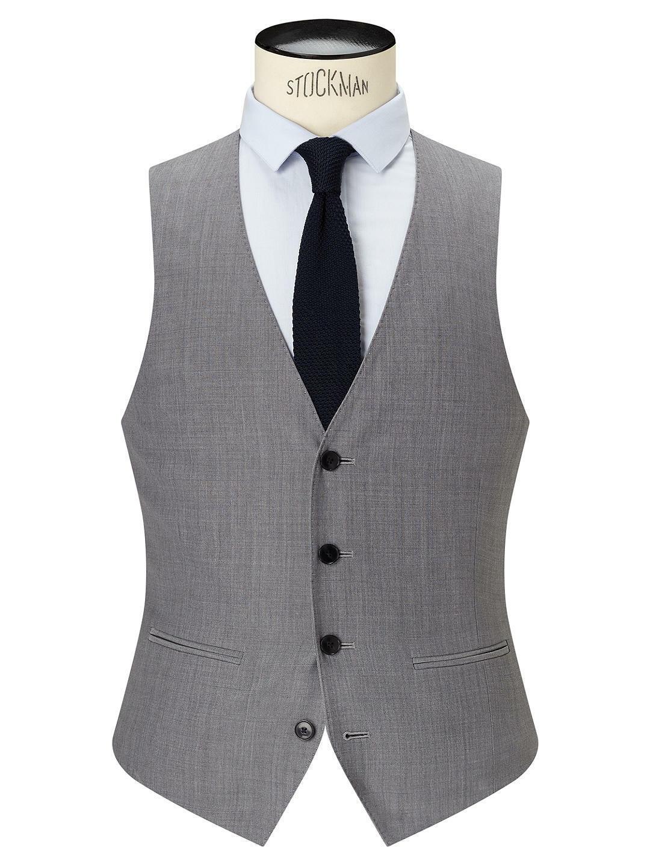 Kin by John Lewis Hassett Tonic Slim Fit Waistcoat Light Grey 36R New BNWT