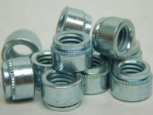 "3//8-16 for 0.125 1//8/"" NH Sheet Metal Self Clinch Nut Zinc PEM 25 PACK"