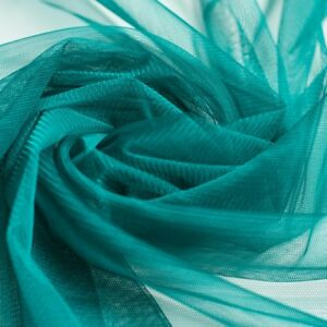 Teal-green-blue-Soft-Tulle-Dress-Fabric-150cm-wide-Per-M-beautiful-drape