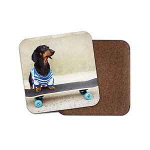 Cute Dachshund Skateboard Coaster Sausage Dog Puppy Funny Cool Gift 13274 Ebay