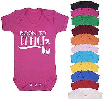 Born To Play Tennis Baby Bodysuit Babygrow