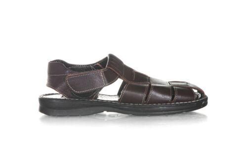 HUARACHE CAB-TOR Brown Leather Sandals Men's 9 Sho
