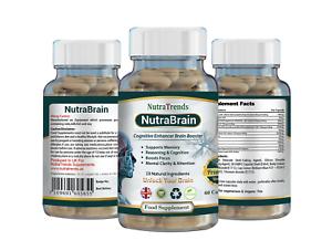 Nutrabrain-nootropics-eine-kognitive-Funktionen-amp-geistige-Wellness-60-Vegane-Kapseln