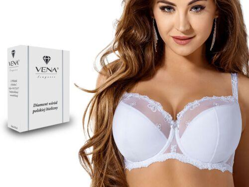 Damen Bügel-BH VENA BH 307 SEMI SOFT teilgepolstert Spitze breite Träger Weiß