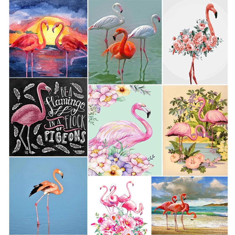 Flamingo Full Drill 5D Diamond Painting Cross Stitch Kits Craft Embroidery Mural