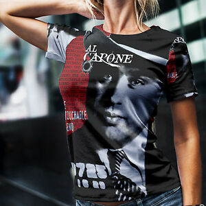 Al Capone T Shirt Gangster Money Power Respect Gun USA Chicago Scarface Mafia