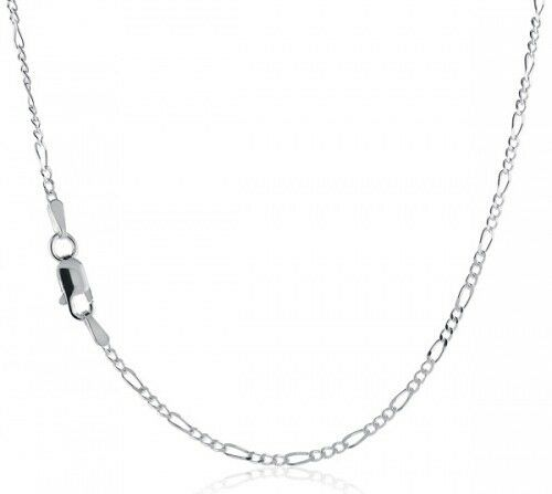 """Solid sterling silver 925 figaro 2 mm bracelets chains 7/""""-30/"""" combined shipping"""