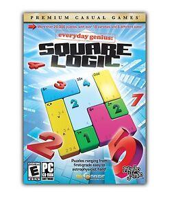 Square-Logic-PC-Games-Windows-10-8-7-XP-Computer-puzzles-math-logic-NEW