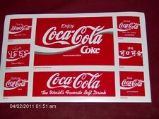 COCA-COLA ATLANTA GA. STICKER/POST CARD LOT OF 2 L@@K