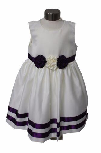 Visara Flor Niñas Cadbury Púrpura//Marfil Vestido con Bolero Jacket 0-24M Rosebud