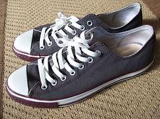 Converse All Star Chuck Taylor Canvas Lo Top Shoes 12 W / 10 Men Grey W/Maroon