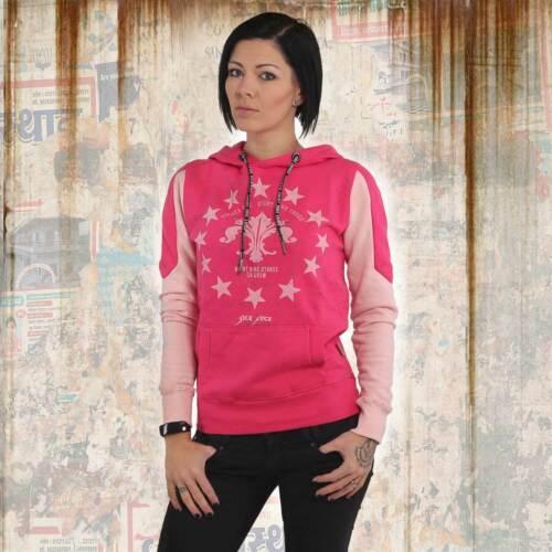 NUOVO Yakuza Donna Dot Lily TWO FACE Hoodie con Cappuccio Pullover-Rose Red