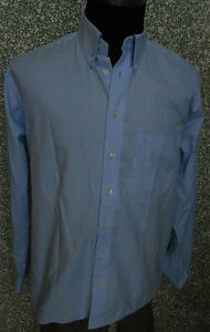 180-7m-Eterna-EXCELENTE-Camisa-Talla-M-KW-40-Azul-Claro-Azul-Liso-Manga-Larga