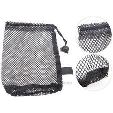 Nylon Mesh Net Bag Pouch Golf Tennis 15 Ball Carrying Holder Storage Bag Closure