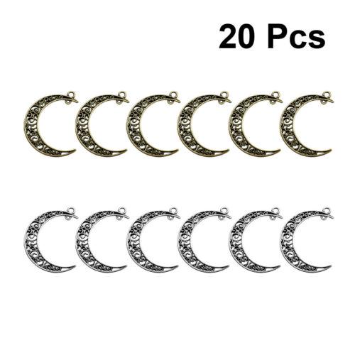 20Pcs 40*30mm Creux Lune Crescent Shape Bijoux Pendentif Bead