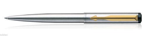 Genuine Parker Vector STAINLESS STEEL GT Ballpoint pen GOLD CLIP GIFT