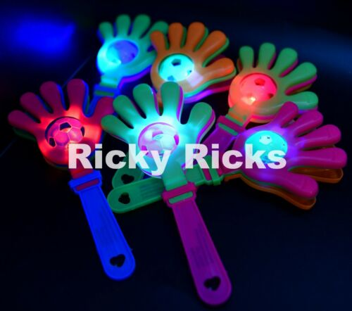 12 Light Up Clapper Hands Flashing Noise Maker Clapping LED Cheering Party