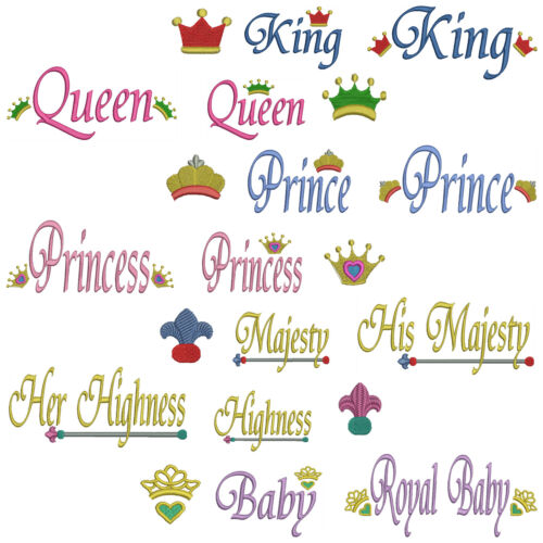 * ROYAL Towel Set Machine Embroidery Patterns 21 Designs *