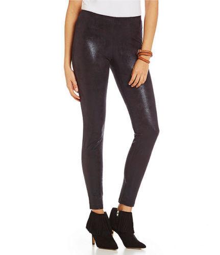 Hue Women/'s Leggings Shimmer Microsuede Stretch Leggings  S,M