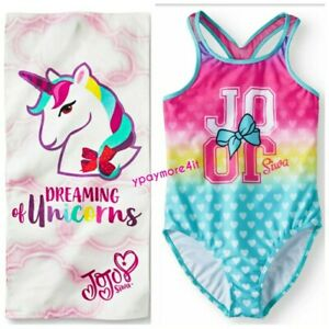 3ed0fc0312 JoJo Siwa Big Girls  One Piece Swimsuit + JoJo Siwa Beach Pool Towel ...