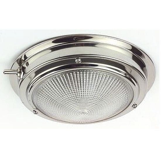 CQUIP 10-30200 Stainless Steel Switched Interior Light 171mm (127mm Lens) Dia.