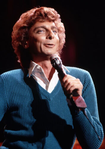 Art print POSTER CANVAS Singer and Songwriter Barry Manilow in Concert
