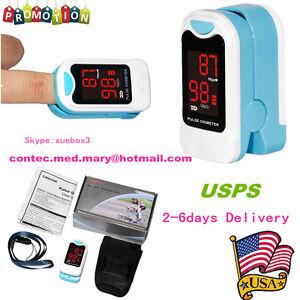 USA Fingertip pulse oximeter Blood Oxygen Meter SPO2 LED Pulse Heart Rate CMS50M