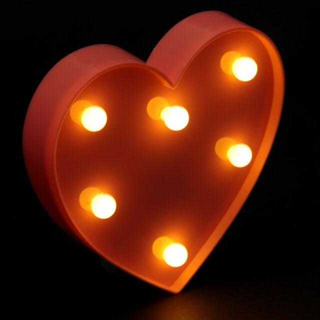 Heart Shaped Led Light Love Romance Home Decor Lights Gift Idea Lamp