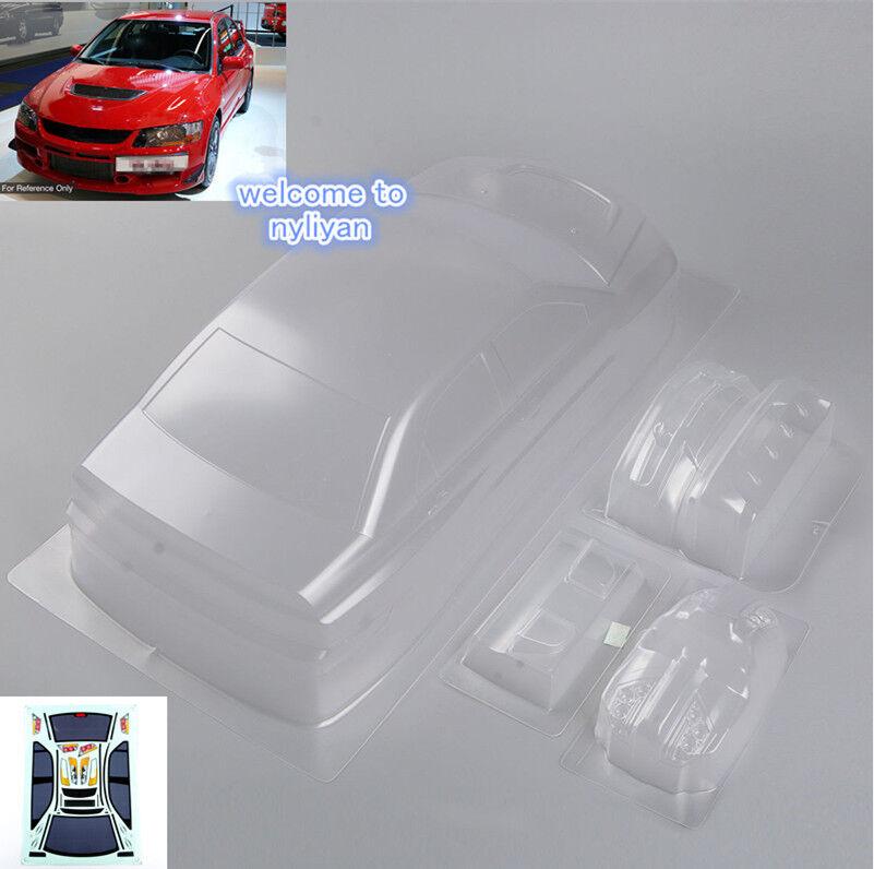 Transparent  Car body Shell PC201305  For 1 10 RC Racing Car Mitsubishi Lancer