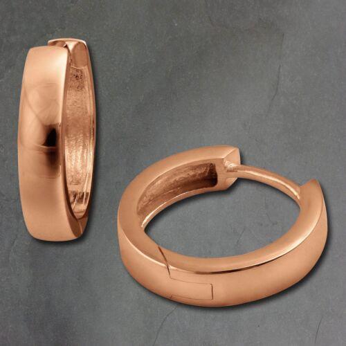 SilberDream Creolen 17mm rosegold Ohrringe Silber 333 vergoldet Damen SDO0017E