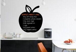 Dettagli su Apple Lavagna Adesivo Da Cucina/Sala da Pranzo GESSO Wall  Sticker Frigo Decor- mostra il titolo originale