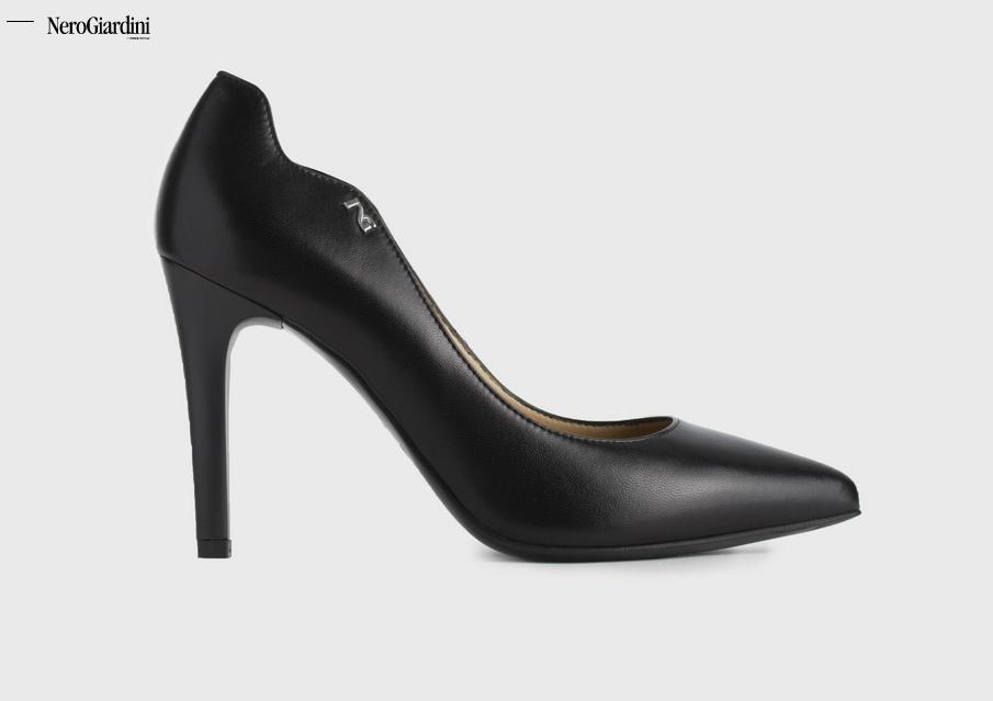 Nero giardini 907920DE  Coloreee nero tacco fine forma sfilata classeica elegante