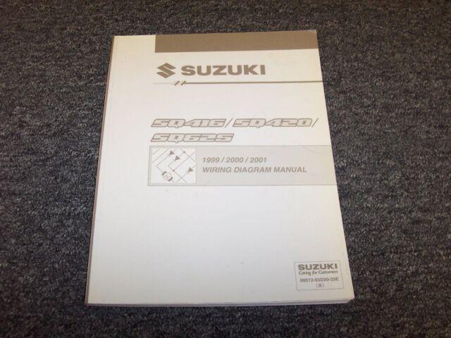 1999 2000 2001 Suzuki Grand Vitara Suv Electrical Wiring