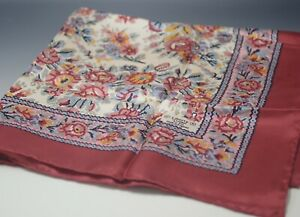 LIBERTY-OF-LONDON-MADE-IN-ENGLAND-SILK-RED-ROSES-FLOWERS-VINTAGE-24-034